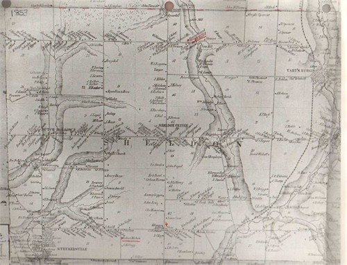 sheldon map 1853